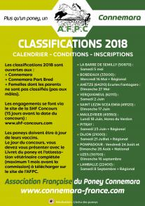 Calendrier des Classifications 2018